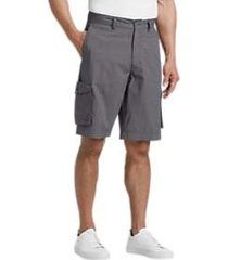 joseph abboud gray check modern fit cargo shorts