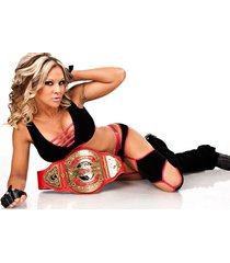 wwe  velvet sky  w/belt   2.5 x 3.5 fridge magnet