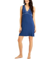 alfani super-soft piping chemise nightgown, created for macy's