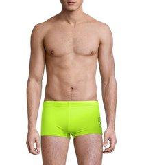 giorgio armani men's knit graphic swim trunks - giallo - size 48 (32)