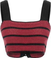 top crochet lune - vermelho