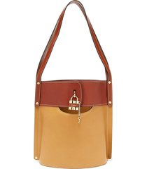 aby large leather bucket bag