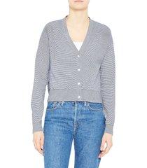 women's theory hanelle c. hudson knit cardigan, size xx-large - blue