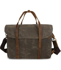 ekphero vintage waterpoof canvas vera pelle 14 pollici laptop borsa