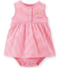 vestido nenê land liso rosa