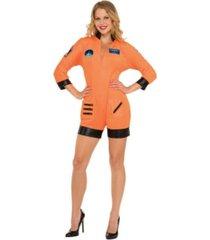 buyseasons women's astronaut orange jumpsuit adult costume