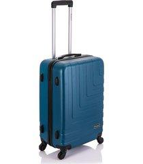 mala viagem primicia malaga abs rodas 360â° mã©dia - azul - azul - dafiti