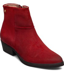 dashed w suede shoe shoes boots ankle boots ankle boot - heel röd sneaky steve