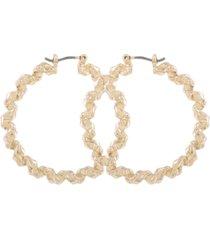 "guess gold-tone medium twisted hoop earrings, 1.5"""