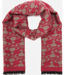 vivienne westwood women's on and off scarf - red