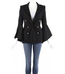 prabal gurung black bell sleeve blazer jacket black sz: xs