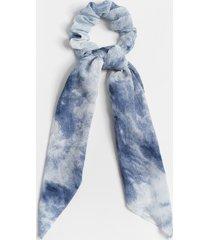 maurices womens blue tie-dye scrunchie scarf