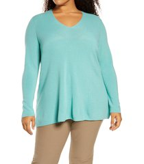 plus size women's eileen fisher superfine merino wool tunic