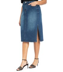 plus size women's eloquii denim midi skirt