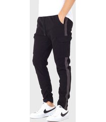 pantalón brave soul negro - calce ajustado