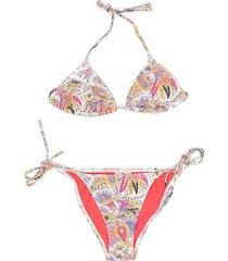 paisley-print bikini set