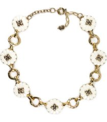 "patricia nash gold-tone flower collar necklace, 16"" + 2"" extender"