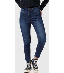 jeans lee ivy azul - calce ajustado