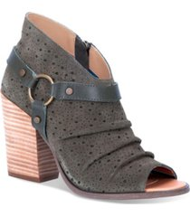dingo women's spurs leather peep toe bootie women's shoes