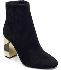 petra bootie shoes boots ankle boots ankle boot - heel svart michael kors