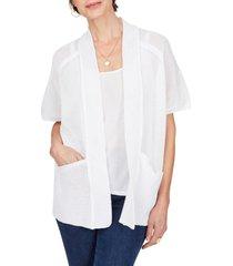 women's foxcroft perla cocoon cardigan, size large - white