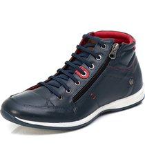 sapatenis carmelo shoes casual couro azul marinho - azul marinho - masculino - dafiti