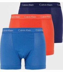 calvin klein underwear trunk 3pk boxershorts röd