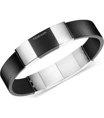 calvin klein men's strong stainless steel pvd adjustable bracelet