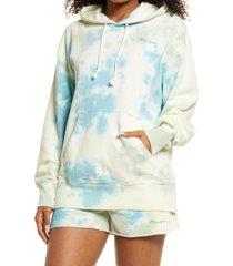 women's champion sunwash lightweight cotton blend fleece hoodie