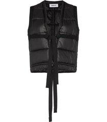 ambush tie-front padded gilet - black