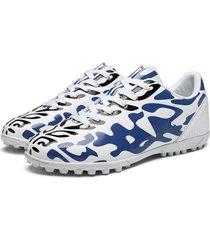 scarpe da ginnastica sportive con suola morbida antiscivolo da calcio in pelle da uomo