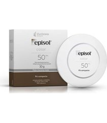 mantecorp episol color pó compacto pele morena mais fps50 10g