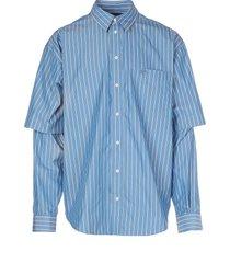 balenciaga double sleeve shirt
