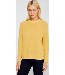 sweater jaspeado con textura amarillo esprit
