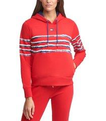 tommy hilfiger sport printed stripe hoodie