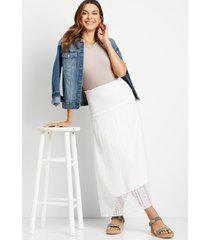 maurices womens white lace trim skirt