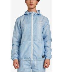 wesc pinstripe windbreaker jacket