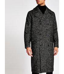 mens jack and jones dark grey longline coat