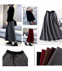 elegant  women long skirt a line winter skirts knitted fabrics dropping line