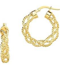 14k yellow gold twisted braid hoop earrings