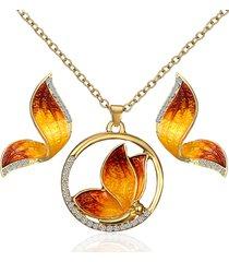 luxury butterfly pendant collane butterfly wings orecchini eleganti gioielli set regalo per le donne