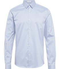 plain twill stretch shirt l/s overhemd business blauw lindbergh