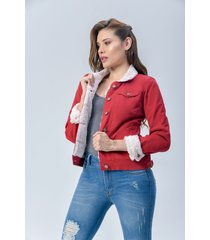 chaqueta clásica dama dril rojo di bello jeans  classic jackets ref c067