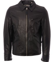 schott lc952 short jacket - black lc952-blk