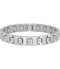 macy's men's square link bracelet