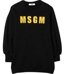 msgm black sweatshirt dress