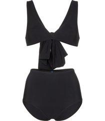 araks rosemund mallory big bow triangle bikini - black
