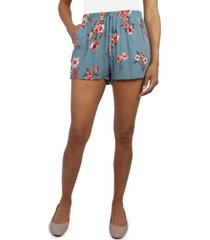 be bop juniors' floral-print soft shorts