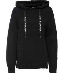 maglione con cappuccio (nero) - bodyflirt