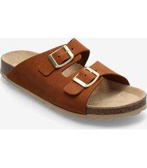 biabetricia buckle sandal shoes summer shoes flat sandals brun bianco